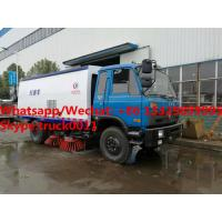 New design dongfeng 4*2 RHD 170hp diesel road sweeping vehicle for Tanzania, Factory sale good price street sweeper for sale