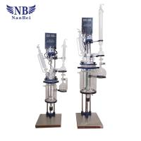 Quality 1~5 Liters Double Type Chemical Glass Reactor for sale