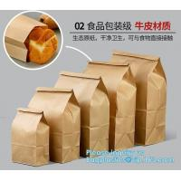 China Free sample food grade paper bread bag with window,Food grade recycled bread paper bag with paper twist handle, bagease on sale