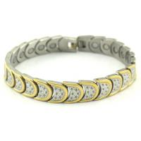 Buy cheap Plated Gold Healthcare Bangle / Magnetic Health Bracelets High Polished from wholesalers