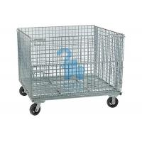Quality Stackable Rodent Proof Wire Mesh Storage Cages On Wheels Φ6mm Wire Size for sale