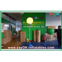 Quality 2m Dia Nylon Cloth Inflatable Led Lighting Ball Decoration With White Stand for sale