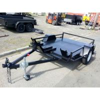 Quality Flatbed 8x6 Motor Bike / Motorcycle Transport Trailer Single Axle 1400kg Load for sale