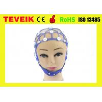 Quality 20 Channel Medical EEG Cap S / M / L Size Silicone Material With 12 Months Warranty for sale