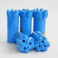 China Wear Resistance Rock Hammer Drill Bits / Hard Rock Drill Bits High Speed for sale