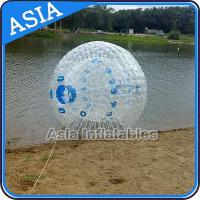 Quality Transparent 1.0mm PVC Aqua Zorbing Ball With Color Dots For Pool Use for sale
