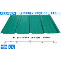 China Green Metal Cladding Sheet Steel Roof Panel Fire Resistant For Construction on sale
