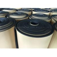China Black  Rubber Foam Insulating Roll High Density Adhesive 10mm Thermal Resistant on sale