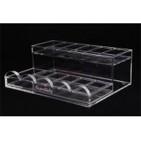 Quality Acrylic Retail Display Stands Nail Polish Shelf Clear 285×215×100 Mm For Makeup Shop for sale