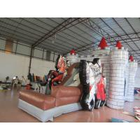 Quality 0.55mm PVC Tarpaulin Knight Themed Inflatable Castle Bouncer 12.9 X 8.3 X 3.2m for sale