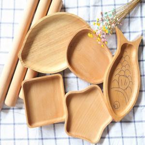 China Custom Rectangular walnut Wood Serving Trays for Food, Coffee, Tea on sale