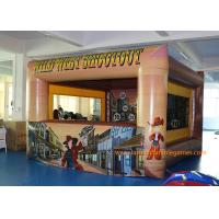 Buy 0.45mm Plato PVC Inflatable Wild West Shoot Game With Digital Printing at wholesale prices