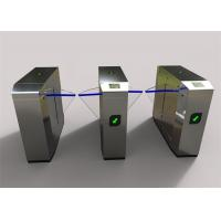 Buy Waist high double wings retractable Flap Barrier Gate , half height turnstile with glass arm at wholesale prices