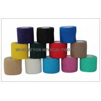 Buy Cohesive Bandage FDA CE Approved in Solid Color For Hospital And Vet Use at wholesale prices