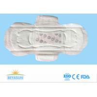 China Negative Ion Disposable Ladies Sanitary Napkins High Abosorption Winged Shape on sale