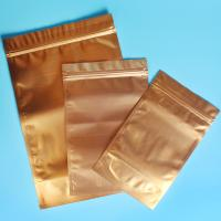 Quality Plastic Zipper Coffee Packaging Bags , Three Layer Laminated Aluminium Bag For Tea for sale