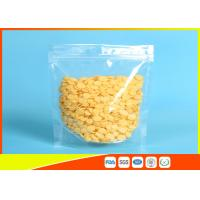 Quality PET/ PE Clear Plastic Zipper Stand Up Ziplock Bags Dry Food Grade Packaging Bags for sale