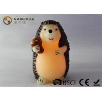 Quality Decorative Flameless Candles , Battery Operated Pillar Candles Hedgehog Shaped for sale