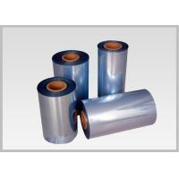 Quality 53% Shrinkage 45mic Shrink PVC Labels Film Rolls For Heat Shrinkable Bands for sale