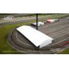 Liri white solid plasic panel sidewall 15x40m Arcum Tent for Ferrari Challenge Racing in Japan 2019 for sale