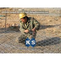 Quality Custom Gabion Stone Cages Hexagonal Wire 80 x 100MM For Protection Engineering for sale
