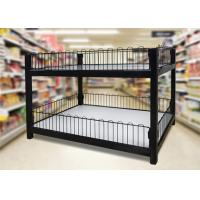 Two Layer Supermarket Display Shelving Supermarket Promotion Table With Storage Cabinet
