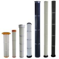 Quality High Efficiency Industrial Dust Filter With PU / Rubber Top End Cap Long Life for sale