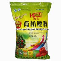 Quality Durable Organic Fertilizer Packaging Bags , PP Woven Laminated Packing Sacks for sale