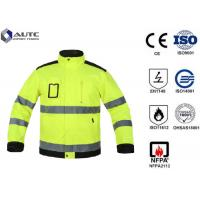 Quality Reflective PPE Safety Wear Disposable Anti Wrinkle Adjustable Sleeve Zip Pockets for sale