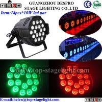 Quality 18pcs*10W rgbw 4 in 1 led par light stand-alone control for sale