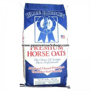 Quality Color Printing Laminated Animal Feed Bags , Folding Reusable PP Woven Sacks for sale