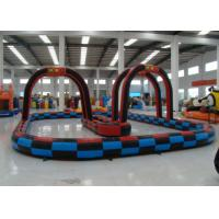 Quality Outdoor Games Inflatable Race Track , Inflatable Air Tumble Track / Go Kart Track for sale
