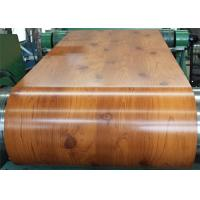 Buy cheap PVC Laminated Metal Sheet Wood Grain VCM Color Coated Steel Coil Strong Toughness from wholesalers