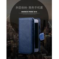 Quality Magnetic Clip Leather Iphone 6 Plus Wallet Case Detachable Dark - Blue for sale