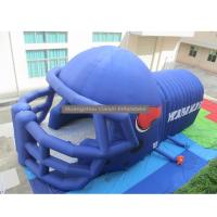 Quality inflatable helmet inflatable football tunnel for event red Oxford cloth for sale