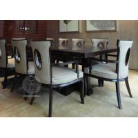 China Fabric Upholstered Modern White Leather Dining Room Chairs With Hole - Back on sale