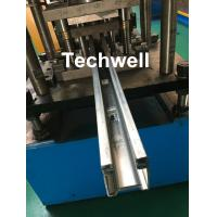 Quality Custom Made Guide Rail Roll Forming Machine For Making Sliding System Devices With Hydraulic Punching for sale