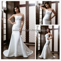 Quality Mermaid & Trumpet Sweetheart Lace Appliques Satin Bridal Dress XG001 for sale
