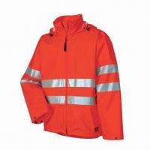Quality Fluorescence Men's Uniform Rainwear/Raincoat with PU fabric, Meets EN471 Standard for sale