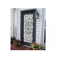 Buy cheap Professional Wrought Iron And Glass Entry Doors For Building Sound Insulation from wholesalers