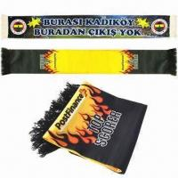 Quality Fan Scarves, Made of Polyester for sale