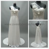 Buy cheap Sheath/Column One Shoulder Beading Flowers Chiffon Wedding Dress #LT2140 from wholesalers