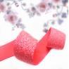 Buy cheap Satin elastic crochet ribbon rolls silver foil dot from wholesalers