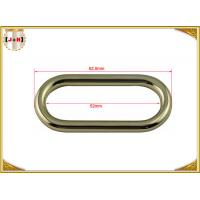 Quality 50 x 4mm Oval Key Holder Metal Belt Loops , Stainless Steel / Metal O Rings Hardware for sale