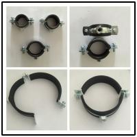 Buy cheap Ceiling / Wall Mounted Pipe Hanger Clamp With Rubber , Dmm 59mm-63mm from wholesalers