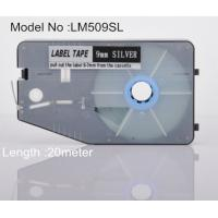 Quality 9mm silver Label Maker Tape 20M commercial for cable identification for sale