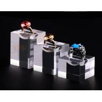 Quality Acrylic Jewellery Display Stands Diamond Ring Ring Display Tray Plinth Cube Crystal Shrink for sale