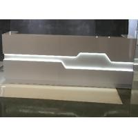 China White Matt Color Retail Checkout Counter With LED Light Inside OEM / ODM Service for sale
