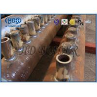 Quality ASME Certification Boiler Manifold Headers , Carbon Steel Boiler Fired Boiler Parts For Power Plant for sale