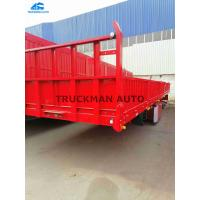 China 3 Axles 50 Tons Side Wall Semi Trailer Truckman Brand For Transport Bulk Cargo on sale
